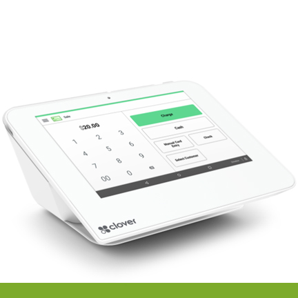 Clover Mini: credit card reader