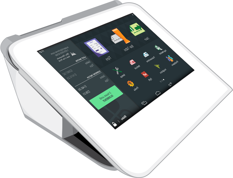 Clover Mini device POS system for business