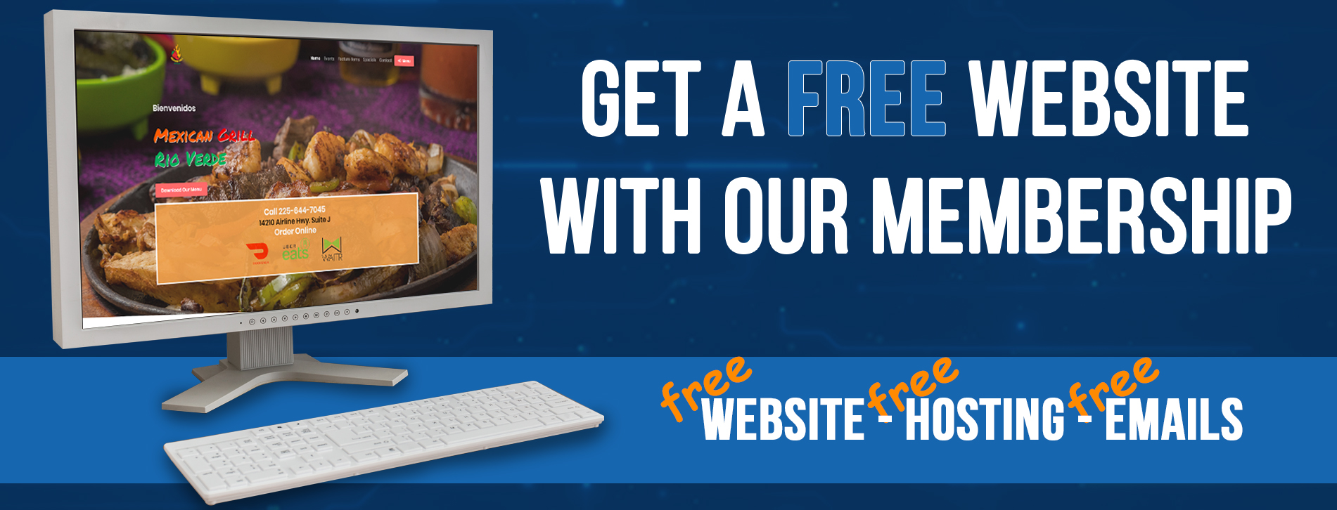 Get a free website with TCP Store